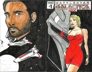 BSG-Six sketch cover full by wildpegasus13