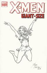 GiantSizeX-MenSketchCover-EmmaCheerleader by wildpegasus13