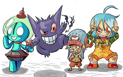 Four Bad Monsters by HiroyValesti