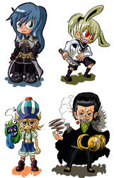 SD: Chibi Commission samples by HiroyValesti