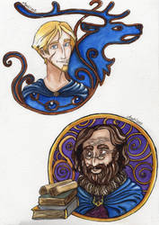 Master and pupil by Agatha-Macpie