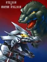 Mechagodzilla Vs Godzilla by fcaiser