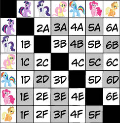 Mane Six Breeding Chart (ON HOLD FREE) by Klawiee