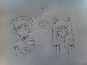 If I met joeyblondewolf2 by DeathAxel