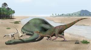 Petrobrasaurus demise by maniraptora
