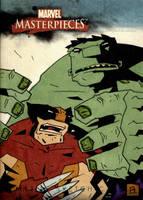 Wolverine VS Hulk Final by soliton