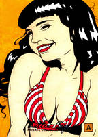 Bettie Page Enjoying Life by soliton