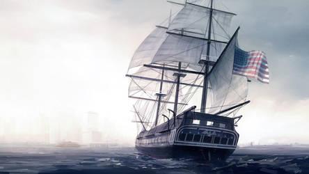USS Constitution by guntama