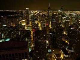 Chicago night view by guntama