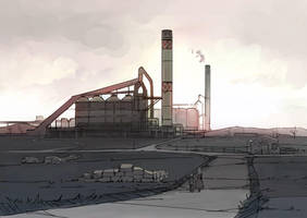 Steel mill by guntama