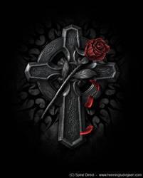 Spiral goth cross by henning