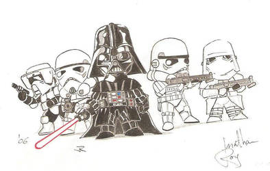 SD Vader and Troopers by 509freak