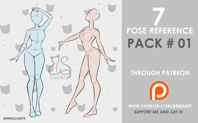 Pose Reference PACK #01 by breesciarpa