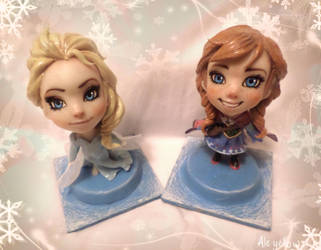 Frozen Elsa and Anna by yuisama