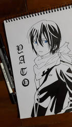 Yato Noragami by passthenoodles