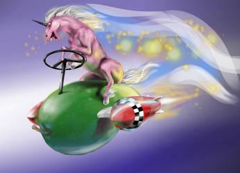 Unicorn on Mango Rocket by MatsuRD