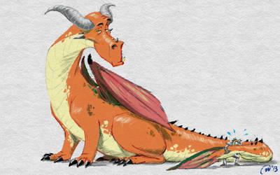 Orange Dragon by MatsuRD