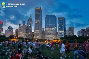 Chicago Skyline Blackhawks by ratdog420