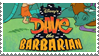 Dave the Barbarian Stamp by LoudNoises