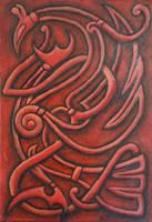 Viking dragon by Sigrulfr