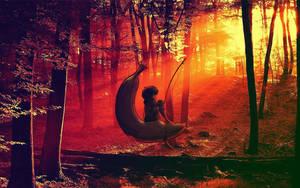 Forest Sunset by Jayleloobee