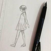 Girl in sketch by thumbelin0811