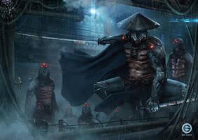 Cyborg Samurai Squad by EmilGoska