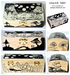 Mushroom Mouse wooden box by ElaRaczyk