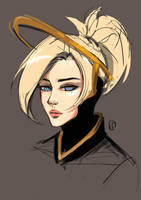 Overwatch: sketchy Mercy by Lilexor