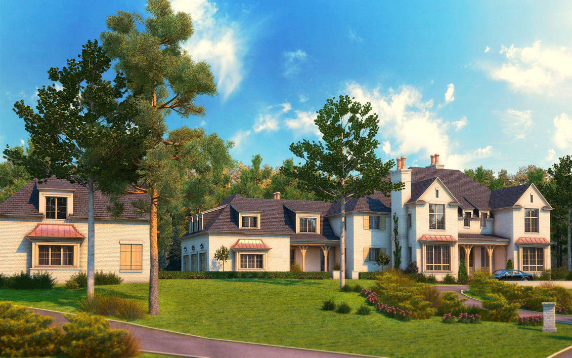 Home Exterior Rendering Addtion By Zodevdesign On Deviantart