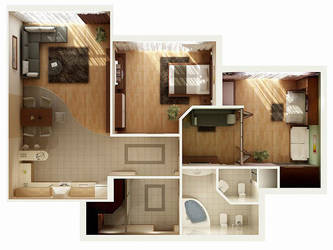 3D Floor Plan by zodevdesign