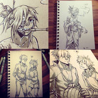 toned paper commissions by HJeojeo