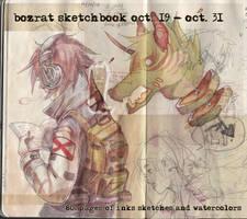 Sketchbook Update #2 Oct. 19 - Oct. 31, 2014 by HJeojeo