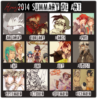 2014 Art Sumary by HJeojeo
