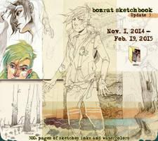 Sketchbook Update #3 Nov. 1, 2014 - Feb. 19, 2015 by HJeojeo