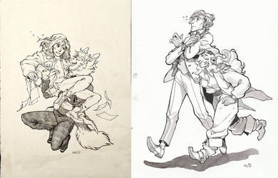 Ink commissions for Sepia-Mortis by HJeojeo