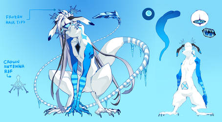 [CCCats] Ice Mentor NPC - design commission by HJeojeo