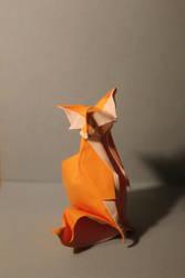 Origami Fox by nekomancer123