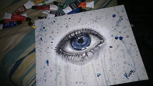 eye/ crying by kumipanqueque