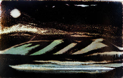 Moonlit Night Glass Tapestry by TiBun