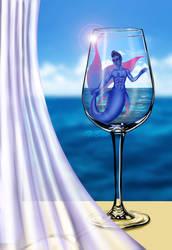 OC - SW - Mer AU - Vae In A Glass by TiBun