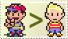 Ness vs Lucas Stamp by Teeter-Echidna