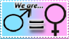 Both Genders Equal Stamp by Teeter-Echidna