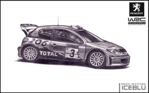 Pencil Sketch - Peugeot 206 by iceblu