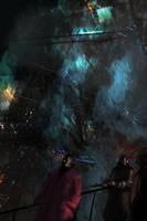 Science fiction scene 2 by paooo