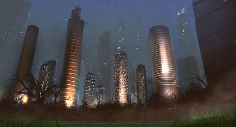 modern city by paooo