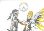 Mercy-Genji overwatch colour feelings by negriwtf
