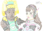 D.Va-Lucio pointillism feelings by negriwtf by negriwtf