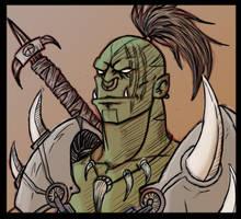 Orc Warrior by ShovelRonin
