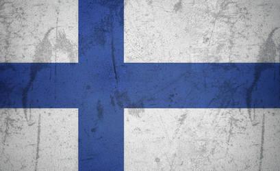 Finland grunge flag by KisaragiIvanov